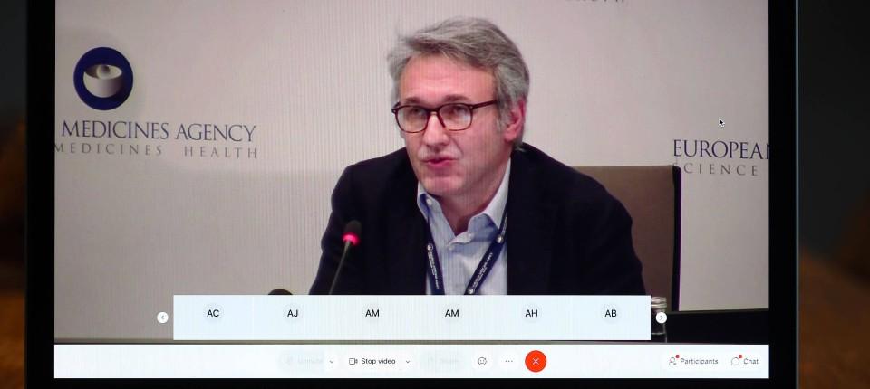 Ema-Impffachmann Marco Cavaleri am 21. Dezember 2020 in einer Videoschalte