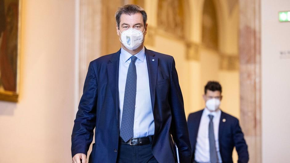 """Will beim Klimaschutz """"action"""": Der bayerische Ministerpräsident Markus Söder (CSU) kommt am Mittwoch zu einer Plenarsitzung im Landtag in München."""