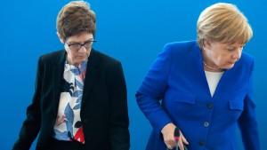 CDU-Chefin: Keine vorzeitige Ablösung Merkels