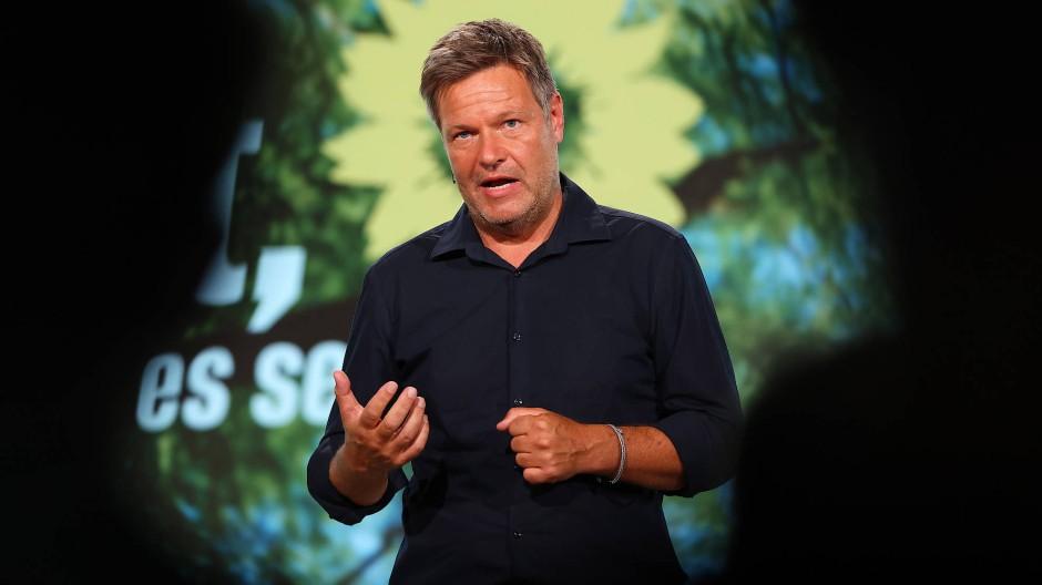 Robert Habeck am Freitag beim Grünen-Parteitag in Berlin