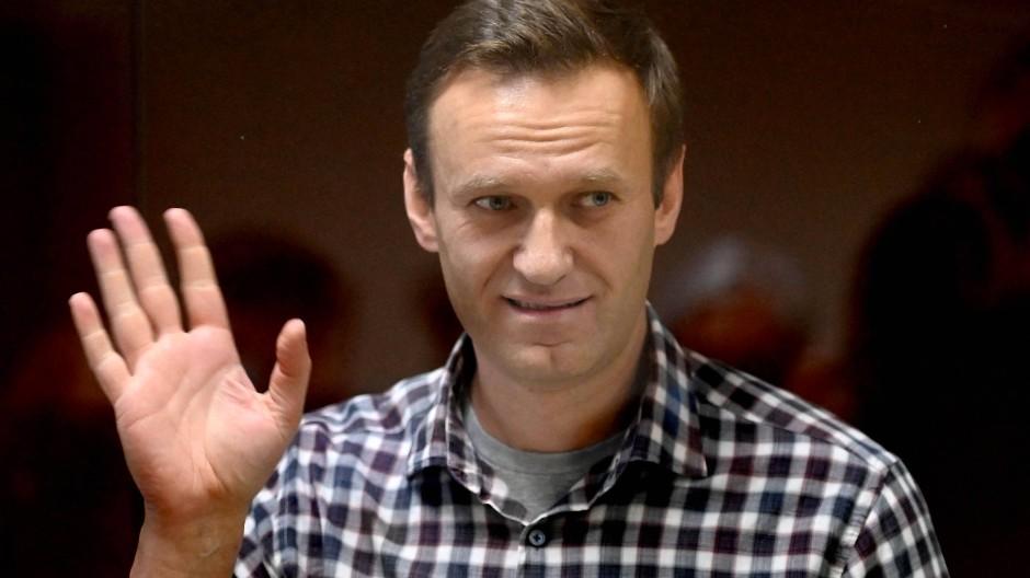 Alexej Nawalnyj im Februar in Moskau