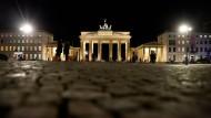 Das Brandenburger Tor in Berlin am Freitag