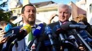 Zwei Innenminister mit scharfer Rhetorik: Italiens Matteo Salvini (l.) und Deutschlands Horst Seehofer.