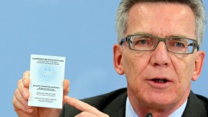 Bundeskabinett billigt  Entzug des Personalausweises