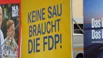 Im Brandenburger Wahlkampf machte die FDP mit einem selbstironischen Spruch auf sich aufmerksam