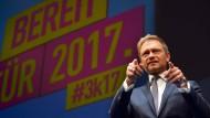 Der Bundesvorsitzende der FDP, Christian Lindner, am Freitag in Stuttgart