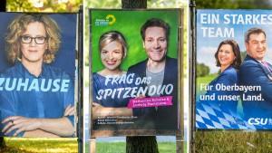 Unionsparteien verlieren, Grüne im Aufwind
