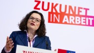 """""""Zukunft in Arbeit"""" – ein Motto, das nun auch wieder für Andrea Nahles und die SPD gelten könnte."""