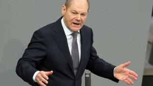 """Auch bei Scholz bleibt die """"Schwarze Null"""""""