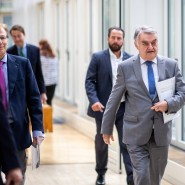 Nordrhein-Westfalens Innenminister Herbert Reul am Mittwoch in Düsseldorf