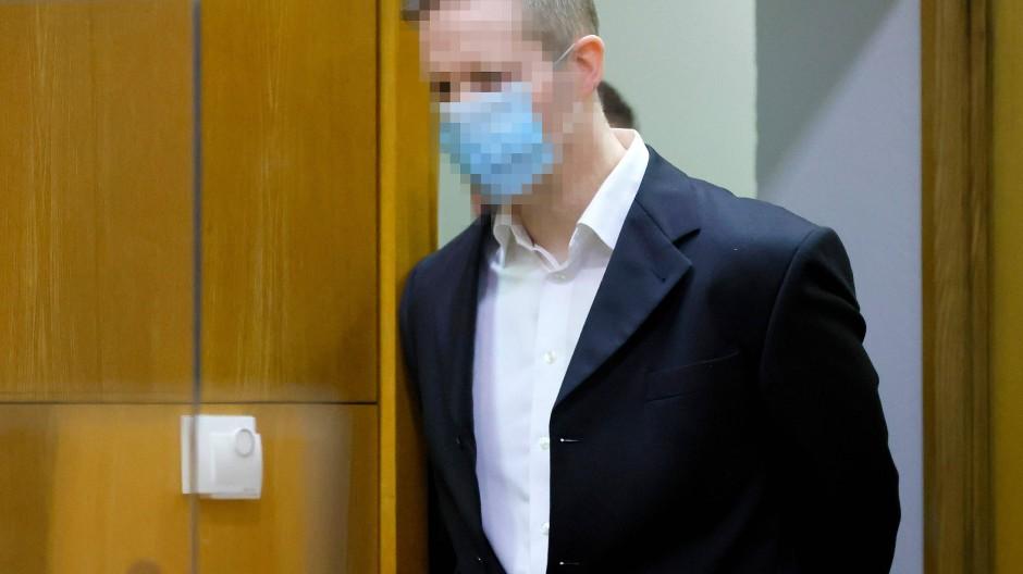 Stephan E. im Dezember im Gericht in Frankfurt