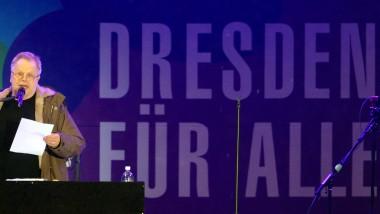 Hertbert Grönemeyer beim Konzert für Weltoffenheit und Toleranz auf dem Dresdner Neumarkt