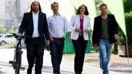 Vier Kandidaten stehen schon fest: Anton Hofreiter, Cem Özdemir, Katrin Göring-Eckardt und Robert Habeck.