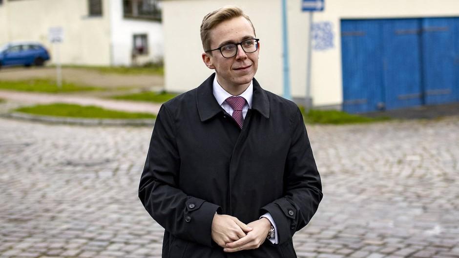 Philipp Amthor (CDU) Mitte August in seiner Heimat Ueckermünde