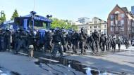 Polizisten beim Einsatz während des G20-Gipfels in Hamburg