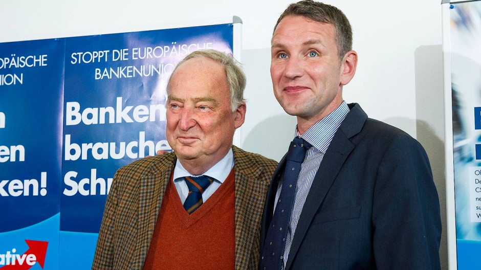 Auf Umarmungskurs: Alexander Gauland und Björn Höcke 2014 in Berlin