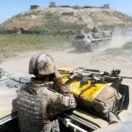 Deutsche Truppen bei einem Einsatz in der Nähe von Kundus im Sommer 2011