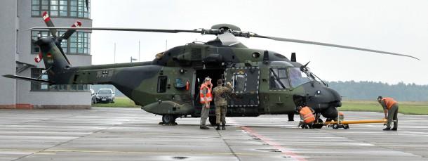 Ein NH90-Hubschrauber im Jahr 2012 in Faßberg (Kreis Celle)