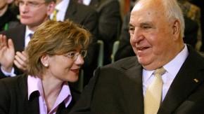 Maike Richter und Helmut Kohl
