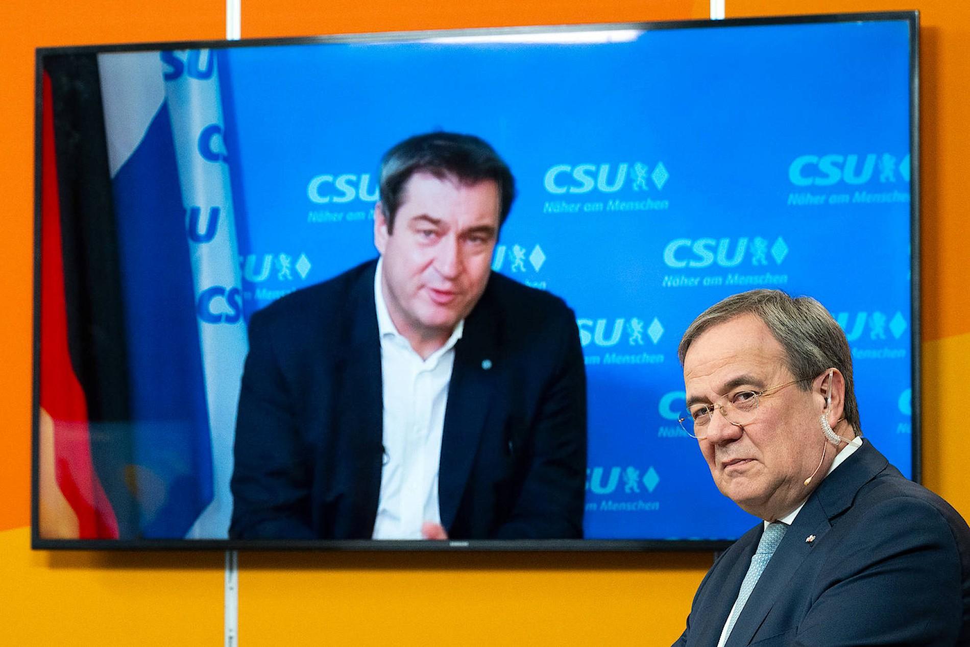 rennen um cdu-vorsitz: söder lobt laschet