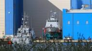 Hunderte Arbeitsplätze: In der Peene-Werft in Vorpommern werden Patrouillenboote für Saudi-Arabien gefertigt.