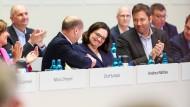 Noch viel zu tun: Andrea Nahles nach ihrer Wahl zur SPD-Parteivorsitzenden