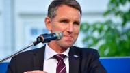 Beschwört das Ende des Islam in Deutschland: Der Thüringer AfD-Vorsitzende Björn Höcke bei einer Kundgebung in Erfurt.
