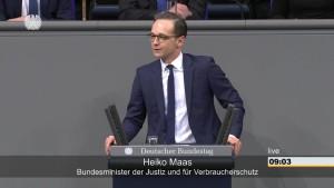 Maas hält im Bundestag die falsche Rede