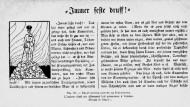 """Französisches Flugblatt: """"Immer feste druff"""""""