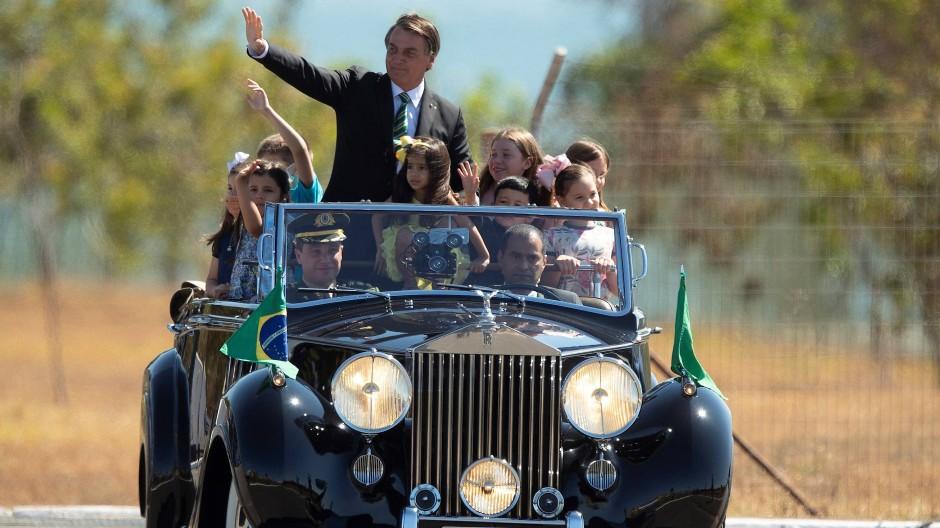 Jair Bolsonaro feiert den Unabhängigkeitstag Brasiliens Anfang September