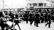 Blick auf den Potsdamer Platz während des Kapp-Putsches 1920