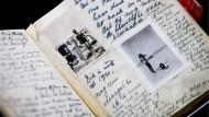 Ein Faksimile des Tagebuchs von Anne Frank, aufgenommen am 11.06.2009 im Anne-Frank-Museum in Amsterdam.