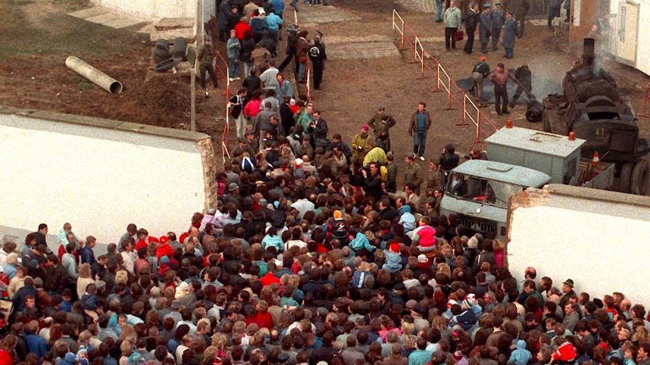 Bernauer Straße am 11. November 1989