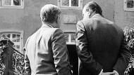 Schloss Gymnich: Helmut Schmidt und Hans-Dietrich Genscher (1981)