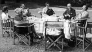 Deutsch-französisches Geheimtreffen am 18. August 1958: Konrad Adenauer trifft sich mit Antoine Pinay und Jean Violet.