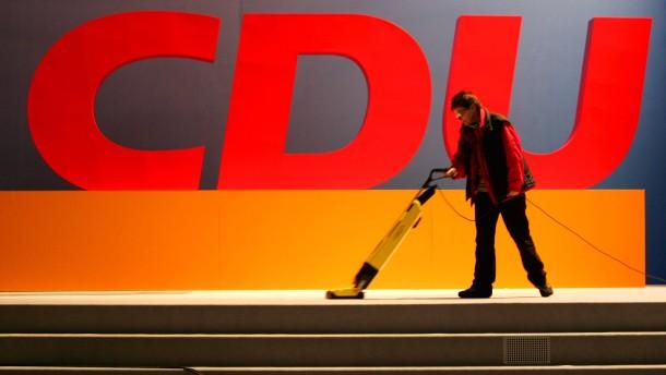 Aufbau Bundesparteitag der CDU