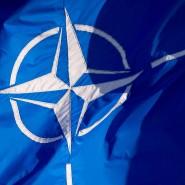 Eine Flagge der Nato im Juni 2014 in Brüssel.