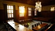 Saal 600 des Nürnberger Justizgebäudes