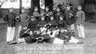 Postkarte, 1912. Die lustigen Hückeswagener Reservisten