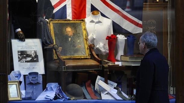 Königsblau für Sir Winston