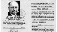 DDR-Presseausweis für den F.A.Z.-Korrespondenten Peter Jochen Winters