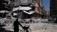 Khaldiyeh, Syrien am 11. August 2011