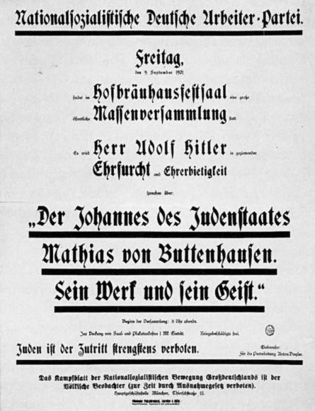 Nach der Beerdigung: NSDAP-Hetze vom 9. September 1921