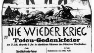 Plakat für eine Totengedenkfeier in München im Jahr 1922