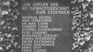 Gedenktafel auf dem Bad Harzburger Friedhof für die Opfer der Nationalsozialistischen Gewaltherrschaft