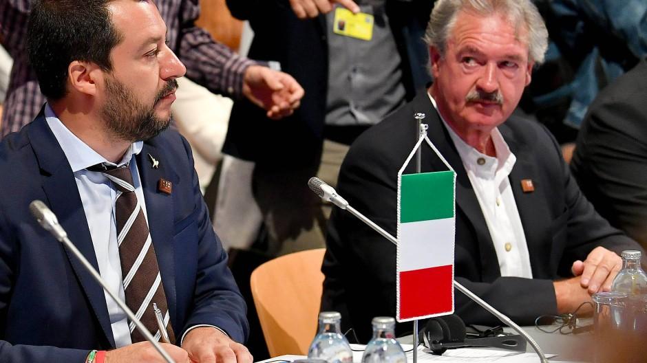 Jean Asselborn neben Matteo Salvini im Juli 2018.