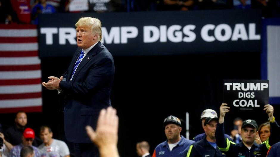 Er hatte es nicht so mit nachhaltigem Investment: Donald Trump macht Wahlkampf 2018.