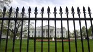 Das Weiße Haus in Washington D.C. am 14. April 2013
