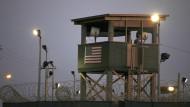 Ein Wachturm von Guantanamo Bay am 29. März 2010