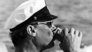 Der Kapitän am Strand von Florida: Willy Brandt im Januar 1972